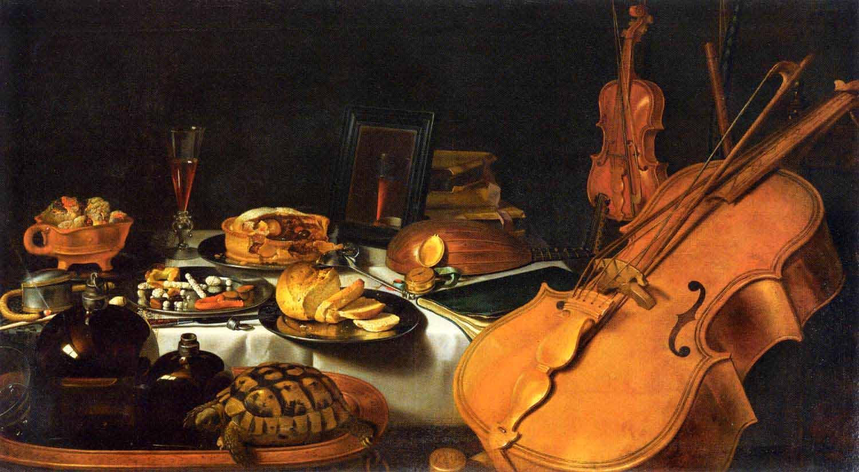 Натюрморт с музыкальным инструментом