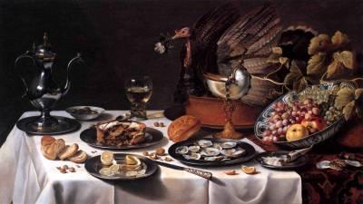 Натюрморт с турецким пирогом 1627г